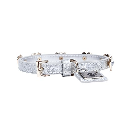 LazyBonezz-Adjustable-Faux-Leather-Dog-Collar-with-Silver-Bling-Rhinestones-for-the-Glam-Pet