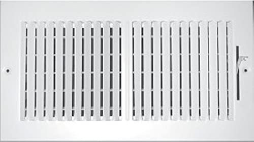 Outer Dimensions: 21.75w X 5.75h Flat Stamped Face White Vent Cover /& Diffuser 20 X 4 3-Way AIR Supply Grille