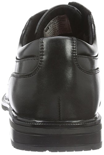 Leather Essential Uomo Black II Detail Rockport Captoe Black Stringate Scarpe Sxzpq