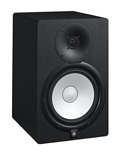 Yamaha HS8 Powered Studio Monitor Pair Bundle with Two Monitors, TRS Cables, and Austin Bazaar Polishing Cloth