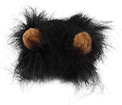 Oyamihin Disfraz de Mascota Encantadora Lions Mane Peluca para Gato Fiesta  de Navidad de Halloween Viste con Oreja Vestido de Mascota Gato Disfraces 17265c348c63