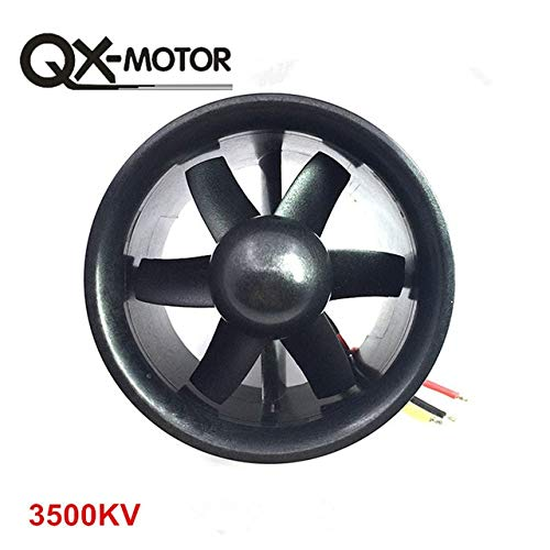 Kamas QX_Motor DIY EDF Ducted Airplane Fan 30mm / 55mm / 64mm / 70mm / 90mm with Brushless Motor - (Color: 70mm 6 Blades 3500KV) ()