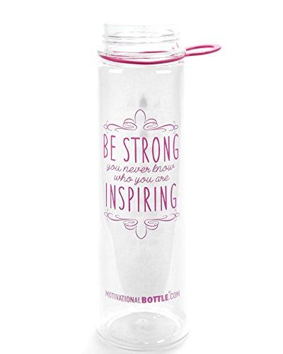 Pink Straw Motivational Bottle®