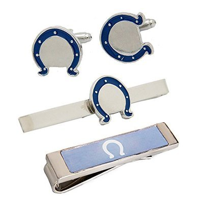 V G S Eternity Fashions Fashion Jewelry ~ Colts Tie Bar Clip, Cufflinks, Money Clip Set by V G S Eternity Fashions (Image #1)