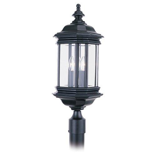 Sea Gull 8238-12 Hill GATE 3L POST-12 Post Lantern, Black ()