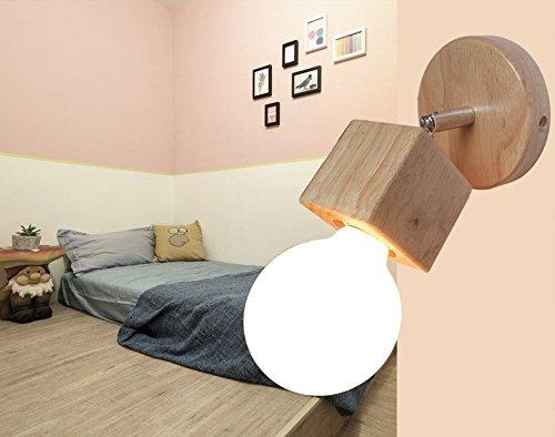 Legno creativo applique lampada salone minimalista moderno