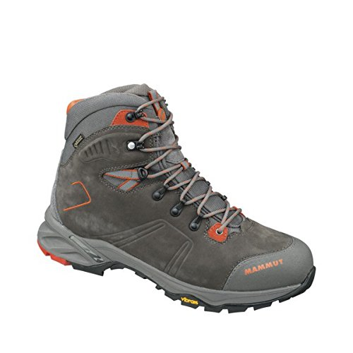 Mammut Mercury Tour High GTX Men (Backpacking/Hiking Footwear), color:bark-dark orange;size:6.5 UK / 40 EUR