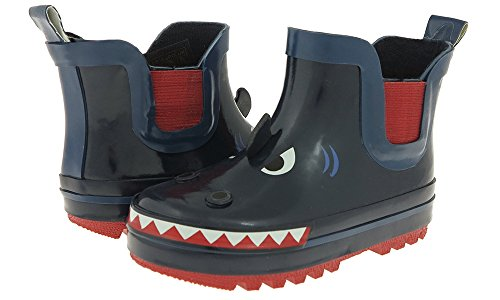 Capelli New York Toddler Boys Shark Face Rain Boot Navy Combo 8/9 (Shark Face Rain Boots compare prices)