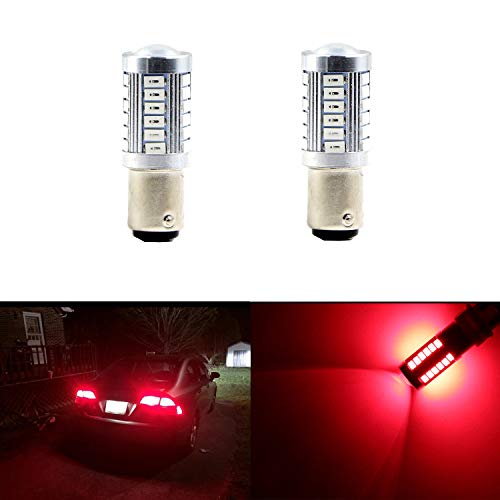 (Brilliant Red 1157 BAY15D 1154 1196 1178 1142 1034 1035 1016 2057 2357 2397 7528 7225 3496 198 94 12V Red LED Car Light Led Bulb for Brake Light LED Bulbs Parking Tail Light)