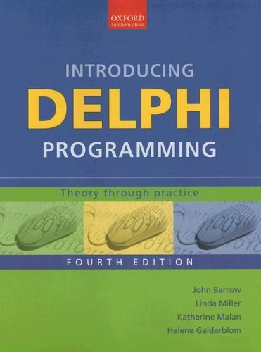 Introducing Delphi Programming: Theory through Practice by John Barrow (2005-07-28) by Oxford University Press