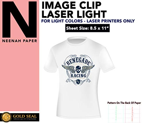 Image Clip Laser Light Self-Weeding Heat Transfer Paper 8.5 x 11-20 Sheets by Gold Seal Specialty Papers