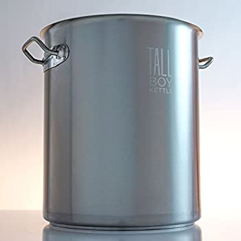 tall boy home brewing kettle stainless steel stock pot 15 gallon capacity 60 quart