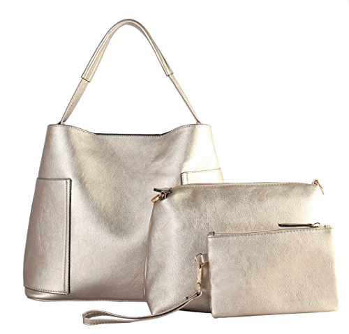 Bags Pieces Set amp; Hobo Large TT Diophy Leather Cosmetic Small PU Medium Gold 3 with 6200 Matching xUqxvBF7w