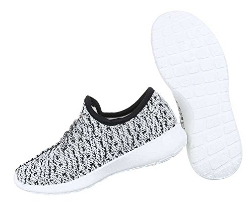 2ed5b1274a8d6c Damen Sneakers Schuhe Freizeitschuhe Schwarz Weiß Damen Sneakers Schuhe  Freizeitschuhe Schwarz Weiß ...
