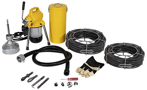 (Steel Dragon Tools K-50 Drain Cleaner for 4in. Pipe with 130ft. of C8 Cable fits RIDGID 58980)