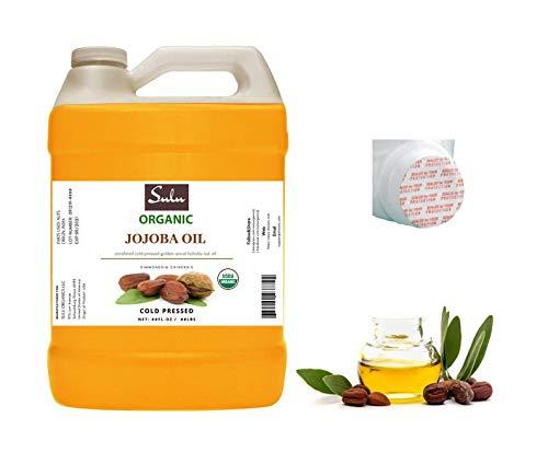 4 LBS/64 FL.OZ - 100% Pure Organic Unrefined Cold Pressed Deep Golden Jojoba Oil Premium Quality