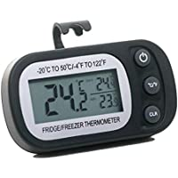 Dongtu Household Refrigerator Waterproof Hanging Electronic Thermometer (Black)