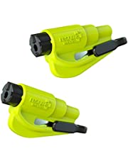 resqme 04.100.09 Safety Yellow Car Escape Tool Twin Pack of 2, Two Pack