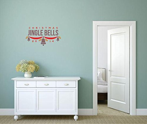 Top Selling Decals - Prices Reduced : Vinyl Wall Sticker : Christmas Jingle Bells Xmas Carols Holiday Bedroom Bathroom Living Room Picture Art Peel & Stick Mural Size: 10 Inches X 20 Inches - 22 Colors Available (Top 10 Xmas Carols)