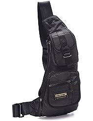 DDDH Men Sling Bags Light Slim Hiking Pack Chest Shoulder Backpack Crossbody Bags for Trip Travels Bike Ride Parks