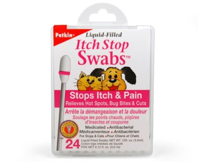 Petkin Pet Itch Stop Swabs, 24-Count (Pack of 6), My Pet Supplies