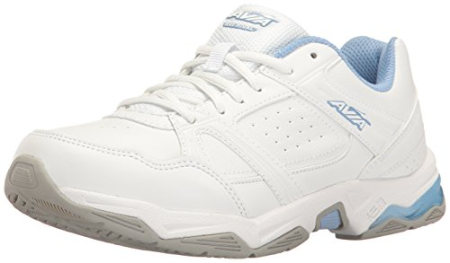 - Avia Women's avi-Rival Cross-Trainer Shoe, White/Powder Blue, 7 W US