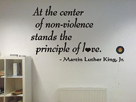 Martin Luther King Jr PRINCIPLE OF LOVE Famous Quote Wall Art Vinyl Decal  Sticker