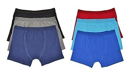 Hari Deals Ragazzi Bambini Boxer Mutande Pantaloncini Biancheria Intima Tinta Unita Pantaloni Confezione da 6 2-13 Anni