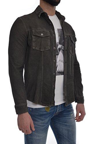 Con Scuro Minoronzoni Modello Nabuk In Giacca Vera Pelle Camicia Marrone Taschini Texano Uomo xgR8q7wf