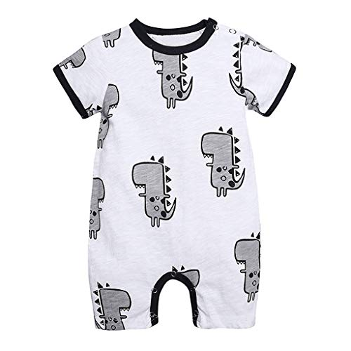 Old Navy Newborn - NUWFOR Outfits Romper Newborn Infant Baby Boy Girl Cartoon Dinosaur Romper Jumpsuit Clothes for Toddler(White,0-3 Months)