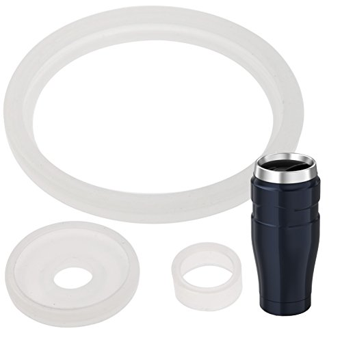2 Sets of Thermos Stainless King (TM) -Compatible 16 Ounce Travel Tumbler/Mug Gaskets/Seals by Impresa Products - BPA-/Phthalate-/Latex-Free - 2 Full Replacements Per Kit