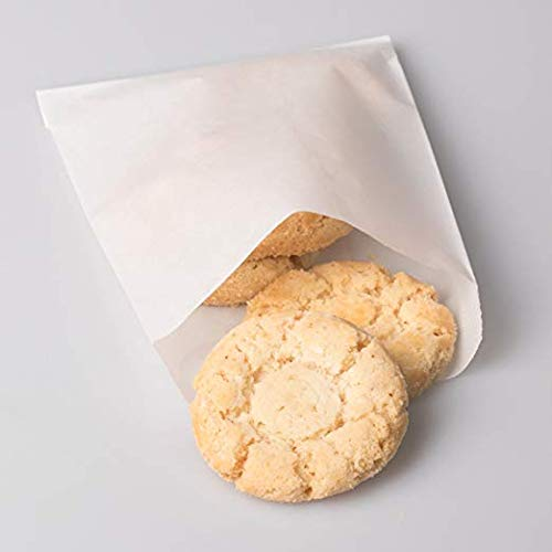 Glassine Waxed Paper Bag, Flat Glassine Lined Paper Gourmet Bags 6 x 7 x 3/4, (1000) ()
