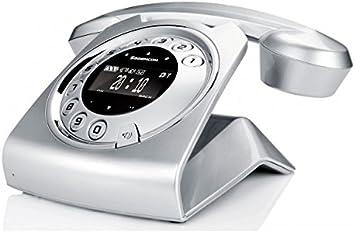 Sagemcom Sixty - Teléfono fijo digital (inalámbrico, pantalla LCD, manos libres), plateado: Amazon.es: Electrónica