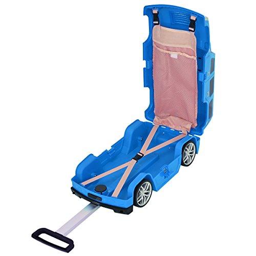 Niños Viaje Equipaje Maleta Con ruedas para niños en la forma de coche juguete adorable 5 colores (Azul): Amazon.es: Equipaje