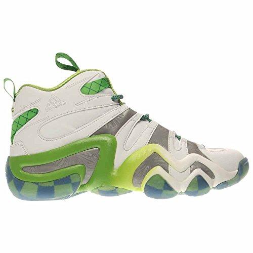 Loca Zapato 8 Baloncesto Blancoplata De Los Hombres De Adidas ...