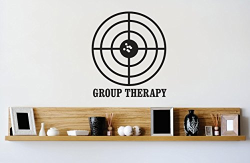 Top Selling Decals - Prices Reduced : Vinyl Wall Sticker : Group Therapy Target Image Quote Bedroom Bathroom Living Room Picture Art Peel & Stick Mural Size: 20 Inches X 20 Inches - 22 Colors Available