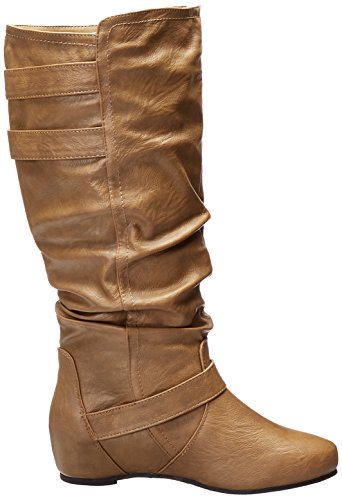 Brinley Co Kvinners Cammie Wc Slentre Boot Taupe Bredt
