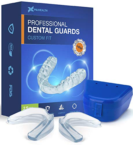 P & J Health Professional Dental Guard - Pack of 4 - New Upgraded Anti Grinding Dental Night Guard, Stops Bruxism, Tmj & Eliminates Teeth Clenching