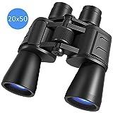 Compact Binoculars 20x50 for Adults and Kids,Durable Powerful Wide Angle Binoculars, Porro Prism