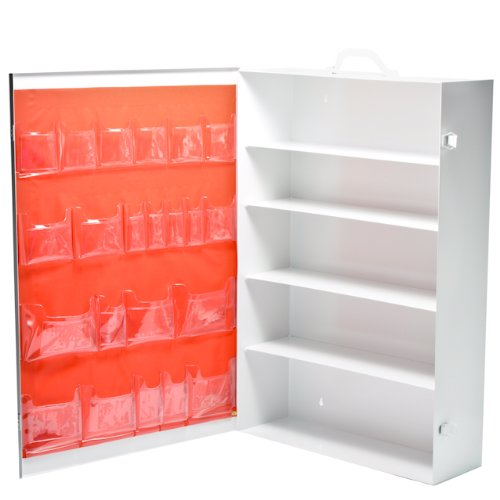 5 Shelf First Aid Cabinet White - Shelf Aid 5 First