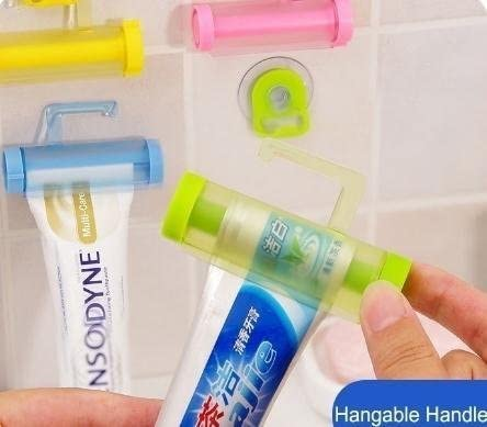 Pack de 2, la gran rueda creativa Tubo pasta de dientes exprimidor baño Gadget: Amazon.es: Hogar