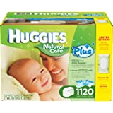 Huggies Natural Care Plus Wipes 1120ct ハギーズ ナチュラルケア ワイプス 1120枚片手で簡単取り出せるワイプケースと 携帯用ケース付 《並行輸入》