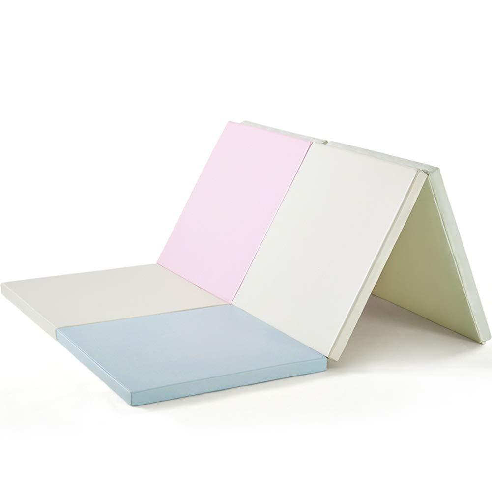 HLMIN フロアマットベビークロール毛布 環境に優しいPU素材 XPE リビングルーム 寝室 滑り止め 無毒 転倒防止 折りたたみ式 収納が簡単 (Color : A, Size : 180x120CM) 180x120CM A B07TNJJJZ8