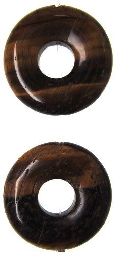 Bead Collection 40286 Semi Precious Amber Donut 30-Millimeter 4.5-Inch Semi Precious Stones Amber