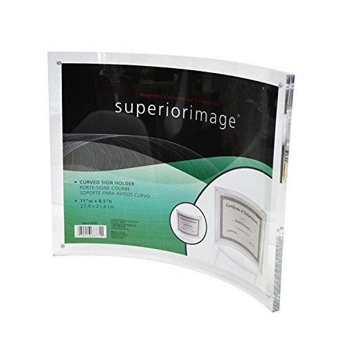 8.5x11 Curved Sign Holder,Acrylic Photo Frame with Magnetic for Document ()