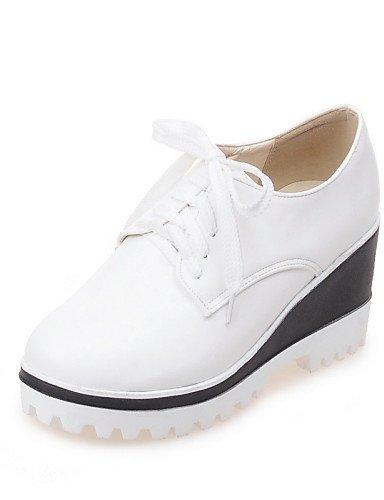 negro White Njx us6 Redonda Hug Zapatos 5 La Punta Comfort cuñas Cuña A exterior Cn39 tacón Blanco sneakers De us8 Eu39 semicuero Uk6 Mujer 5 7 Uk4 Cn37 5 White Moda Eu37 aggSr
