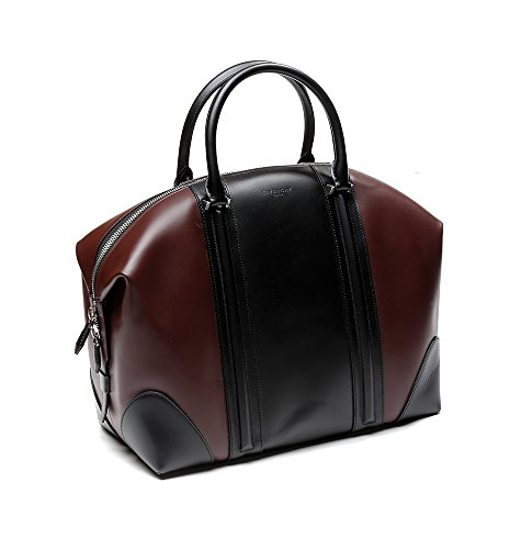 Givenchy Women's Color Blocked Real Leather Tote Handbag One Size Black and Wine by Givenchy (Image #2)