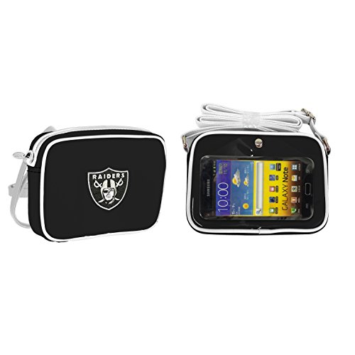 NFL Oakland Raiders Fashion Style Crossbody Purse- Embroidered Logo ()