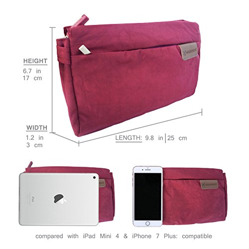 Satchel Burgundy Nylon Travel Waterproof Crossbody Outdoors Bag Lightweight Purse small FanCarry 6qYdw5zq