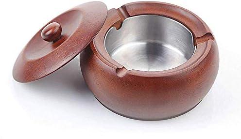 葉巻灰皿, 灰皿灰皿木製 - 木製灰皿/プライベートキッチン/リビングルーム/クリアカラーの蓋(色:ベージュ-12,5X7cm)と暖炉用灰皿、サイズ:ベージュ、12.5X7cm (Size : Beige-12.5X7cm)